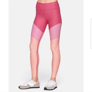 NWT Outdoor Voices Pink 7/8 Springs Leggings L